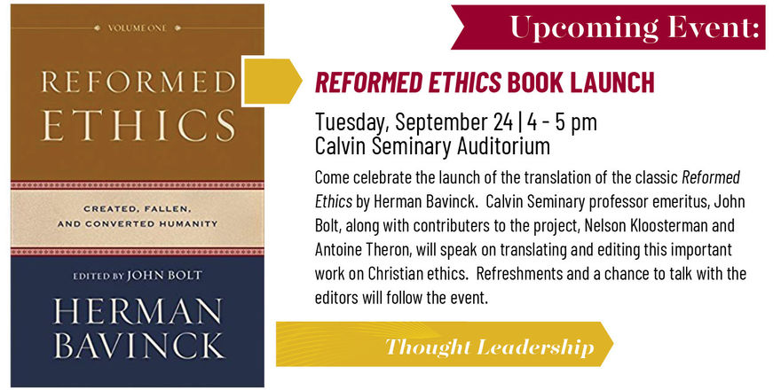"""Reformed Ethics"" Book Launch"